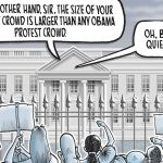 Trump protest crowd size: Today's Toon