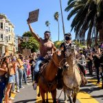 George Floyd protests: 10K march in San Francisco; Floyd's son visits site of father's death; New York City, Los Angeles continue curfew