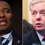 Lindsey Graham campaign ad features image of opponent with digitally altered darker skin tone