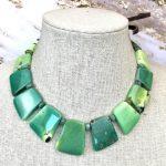 Beautiful Chrysoprase Graduated Necklace
